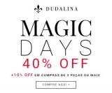 Magic Days: 40% de desconto + 10% extra na compra de três ou mais peças na Dudalina