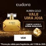 Compre fragrância Aurien Gold e ganhe berloque exclusivo na Eudora