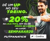 Dê um Up no seu Treino: 20% de desconto na loja toda (sem mínimo de compras) no FutFanatics
