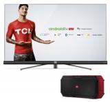 Compre uma Smart TV TCL e com mais R$ 1,00 ganhe uma caixa de som TCL no Girafa