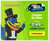 Promo Mês do Consumidor: criador de sites mais domínio grátis no Hostgator