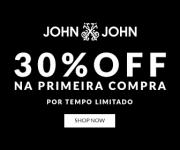 30% de desconto na primeira compra na John John