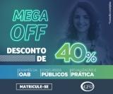 MEGA OFF: 40% de desconto no Exame da OAB e Preparatórios para Concursos Público na LFG