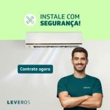 Instalação de Ar-Condicionado com segurança na Leveros