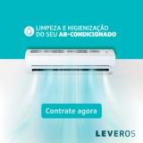 Limpeza e Higienização de Ar-Condicionado com segurança na Leveros