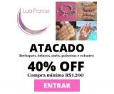 Atacado: 40% de desconto em joias nas compras acima de  R$ 1.200,00 na Lua Pratas