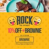 Rock End Brownie: 10% de desconto + Brownie na na Lucco Fit