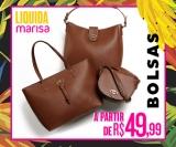 Liquida: bolsas a partir de R$ 49,99 na Marisa