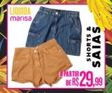 Liquida: saias e shorts a partir de R$ 29,99 na Marisa