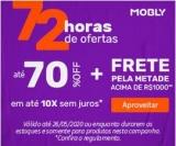72 horas de Ofertas: até 70% de desconto + Frete pela metade do preço acima de R$ 1.000,00 + até 10X sem juros na Mobly