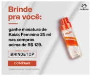 A partir de R$ 129,00 em compras, ganhe Kaiak feminino 25 ml na Natura