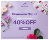 Primavera: Seleção de Produtos com até 40% de desconto na Natura