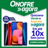 Quinzena Verde Amarela: 5% de desconto no boleto ou 1X no cartão na Onofre Agora Eletro