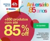 Aniversário 85 anos: mais de 850 produtos com até 85% de desconto na Onofre