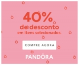 Sale + Gift: 40% de desconto em seleção e brinde porta-joias acima de R$ 999,00 na Pandora