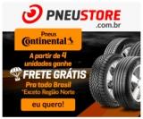 Compre a partir de quatro pneus Continental e ganhe Frete Grátis Sul, Sudeste, Centro-Oeste e Nordeste na PneuStore