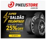 Super Saldão Relâmpago: todo o site com até 25% de desconto na PneuStore