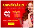 Mês de Aniversário: Smartphones e Notebooks com Frete Grátis Brasil acima de R$ 299,00 no Saldão da Informática