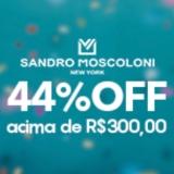 Aniversário 44 anos: 44% de desconto nas compra acima de R$ 300,00 no Sandro Moscoloni