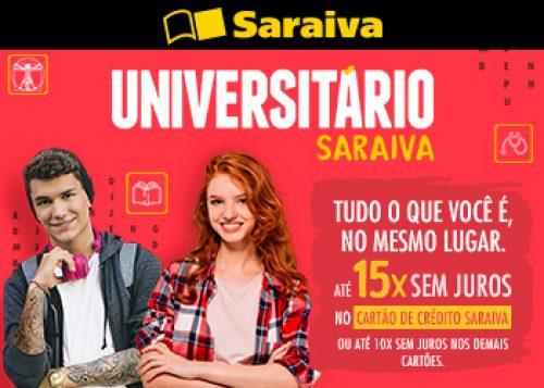 Universitário  tudo em até 15x sem juros no cartão de crédito Saraiva e188f18131