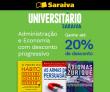 Universitário: Livros de Administração e Economia com desconto progressivo de até 20% na Saraiva