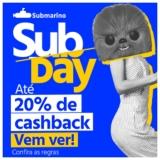 Subday: até 20% de Cashback no Submarino