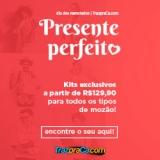 Presente Perfeito: kits exclusivos a partir de R$ 129,90 pra todo tipo de mozão na TrazpraCa