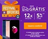 Festival de Ofertas: 5% de desconto à vista + Frete Grátis + 12X sem juros no Trocafone