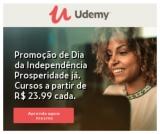 Promoção Dia da Independência: cursos online a partir de R$ 23,99 na Udemy