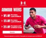 Armour Weeks: Desconto Progressivo, até 25% de desconto nas compras acima de R$ 399,90 na Under Armour