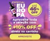 Especial Europa: até 46% de desconto + 10% de desconto extra no Vinho Fácil