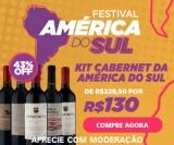 Festival da América do Sul: Kits de Vinhos com até 50% de desconto no Vinho Fácil