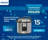Aniversário: Panela de Pressão Elétrica Daily Philips Walita RI3103 com 15% de desconto na Philips