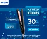 Aniversário: Prancha Alisadora Essential Philips preta e rosa BHS378/00 com 30% de desconto na Philips