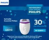 Aniversário: Removedor de Pelos Satinelle Essential Philips BRE225/00 com 30% de desconto na Philips