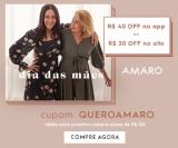 Dia das Mães: R$ 30,00 de desconto no site ou R$ 40,00 de desconto no App acima de R$ 150,00 na Amaro
