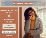 Outono Inverno: R$ 30,00 de desconto no site ou R$ 40,00 de desconto no App na Amaro