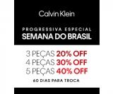 Semana do Brasil com Progressiva Especial: compre cinco peças, ganhe 40% de desconto na Calvin Klein