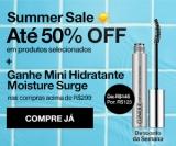 Summer Sale: até 50% de desconto em seleção + ganhe Mini Hidratante Moisture Surge acima de R$ 299,00 na Clinique