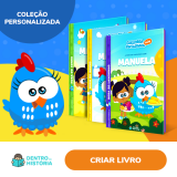 Livros Personalizados da Galinha Pintadinha com seu filho na Dentro da História
