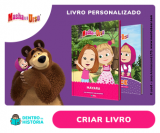 Livros Personalizados da Masha e o Urso com sua filha na Dentro da História