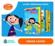 Livros Personalizados do Show da Luna com sua filha na Dentro da História