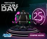 Double Day: até 25% de desconto nas cadeiras gamer Vertagear no KaBuM!