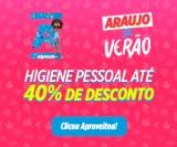 Higiene Pessoal com até 40% de desconto na Drogaria Araujo
