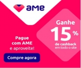 Compre com AME e ganhe Cashback de15% em todo o site na Eletrum