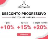 Desconto Progressivo: 20% de desconto em três ou mais peças Le Lis Blanc na Estoque