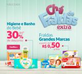 Chá de Fraldas: Higiene e Banho do Bebê com até 30% de desconto no Extra
