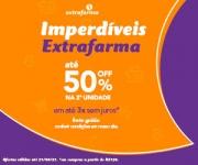 Imperdíveis: até 50% de desconto na segunda unidade na Extrafarma