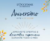 Promoção de Aniversário 11 anos: Descontos Especiais na L'Occitane en Provence
