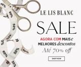 Sale: até 70% de desconto na Le Lis Blanc